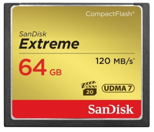 SanDisk Extreme Pro CF 120MB/s 64GB