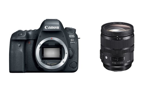 Lustrzanka Canon EOS 6D mark II + Sigma 24-70 mm f/2.8 A DG OS HSM