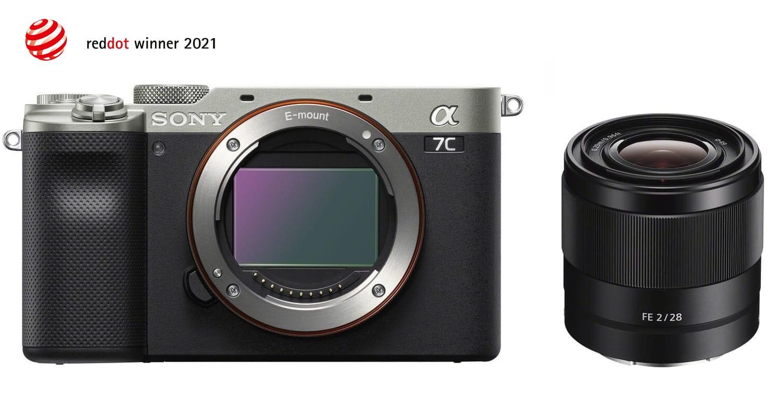 Aparat cyfrowy Sony A7C srebrny ILCE7C + Obiektyw Sony FE 28 mm f/2.0 SEL28F20 + cashback 650 zł