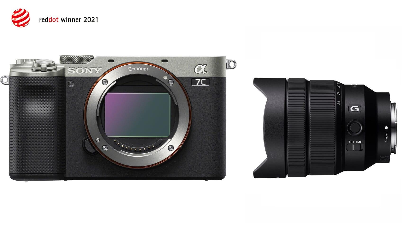 Aparat cyfrowy Sony A7C srebrny ILCE7C + obiektyw FE 12-24 mm f/4.0 G - SEL1224G + cashback 650 i 450 zł