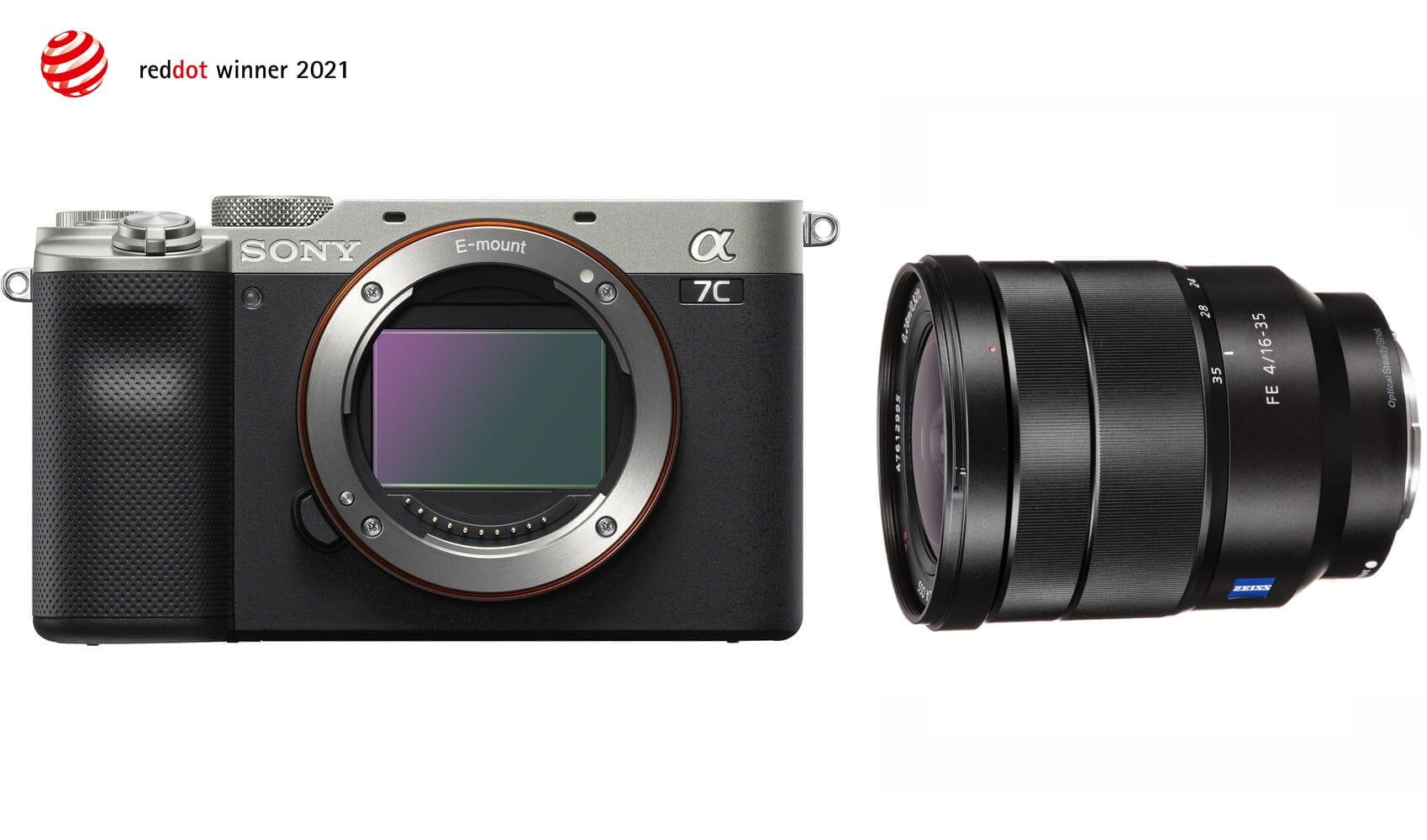 Aparat cyfrowy Sony A7C srebrny ILCE7C + obiektyw FE 16-35 mm f/4.0 Zeiss Vario-Tessar ZA OSS - SEL1635Z + cashback 900 i 650 zł