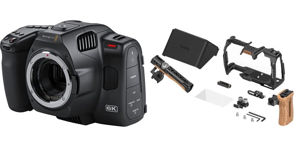 Kamera cyfrowa Blackmagic Pocket Cinema Camera 6K Pro + zestaw SmallRig 3299 PRO
