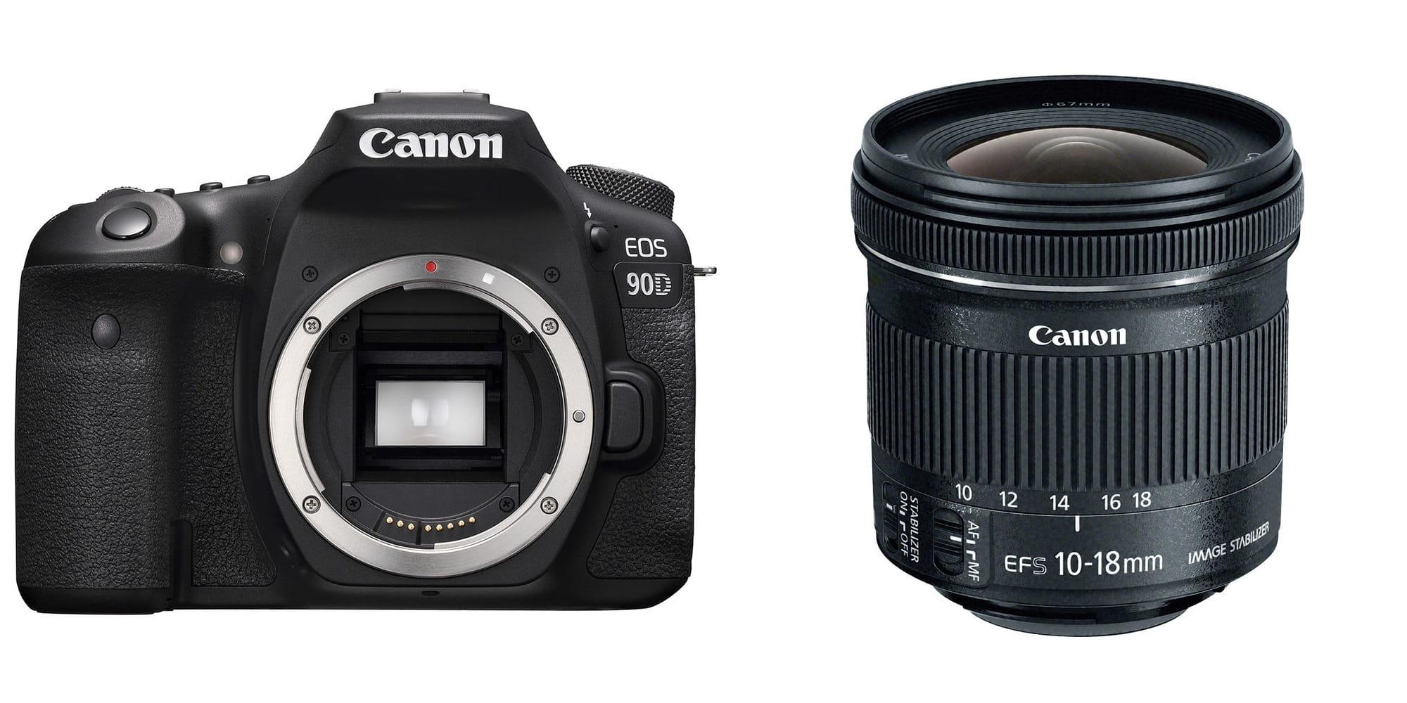 Lustrzanka Canon EOS 90D + EF-S 10-18mm f/4.5-5.6 IS STM