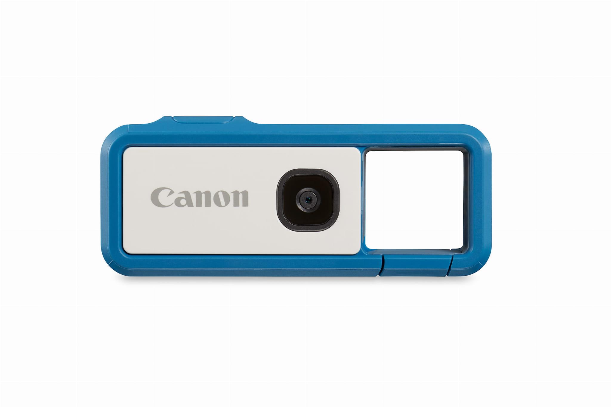 Aparat i kamera sportowa - Canon IVY REC - niebieska