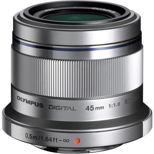 Olympus M.Zuiko Digital 45mm f/1.8 ED - srebrny