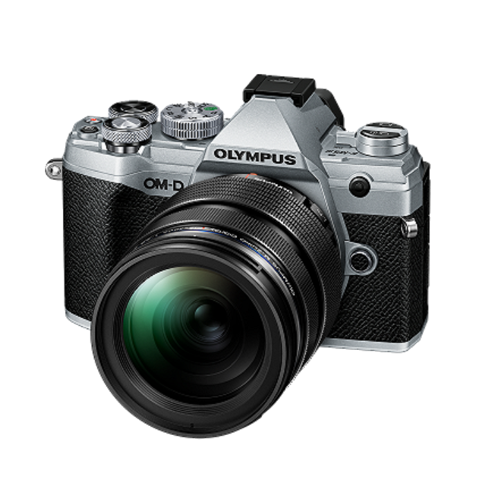 Aparat Olympus OM-D E-M5 Mark III body - srebrny + M. ZUIKO DIGITAL ED 12-40 mm f/2.8 PRO czarny + obiektyw 25mm F1.8 i grip ECG-5 gratis