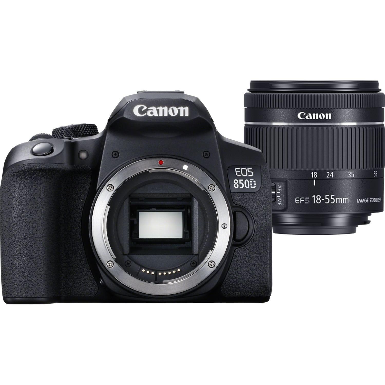 Lustrzanka Canon EOS 850D + obiektyw EF-S 18-55mm f/4-5.6 IS STM