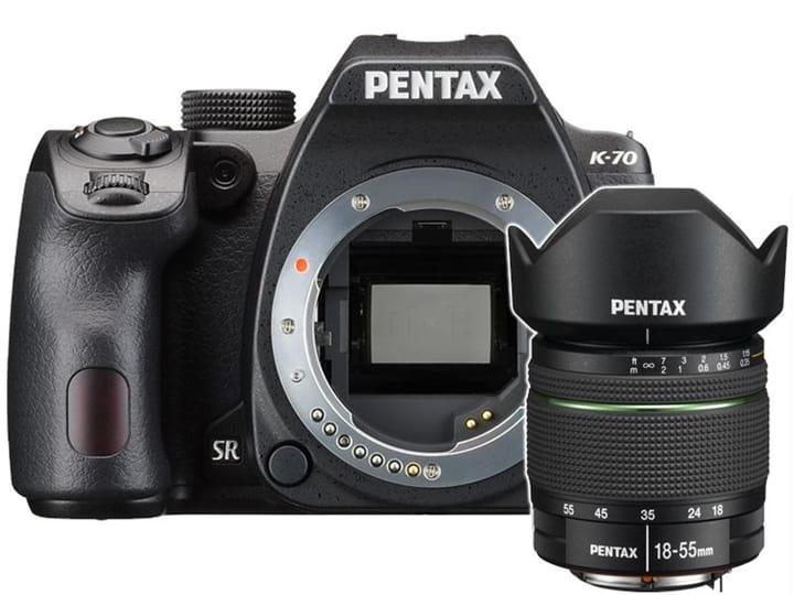 Zestaw Pentax K-70 + obiektyw Pentax 18-55mm DA L WR + obiektyw 50 mm f/1.8 DA SMC za 1 zł
