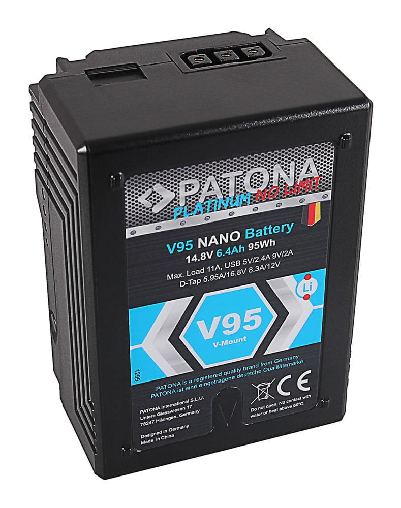 Akumulator PATONA Platinum NANO V95 RED ARRI V-Mount, D-Tap