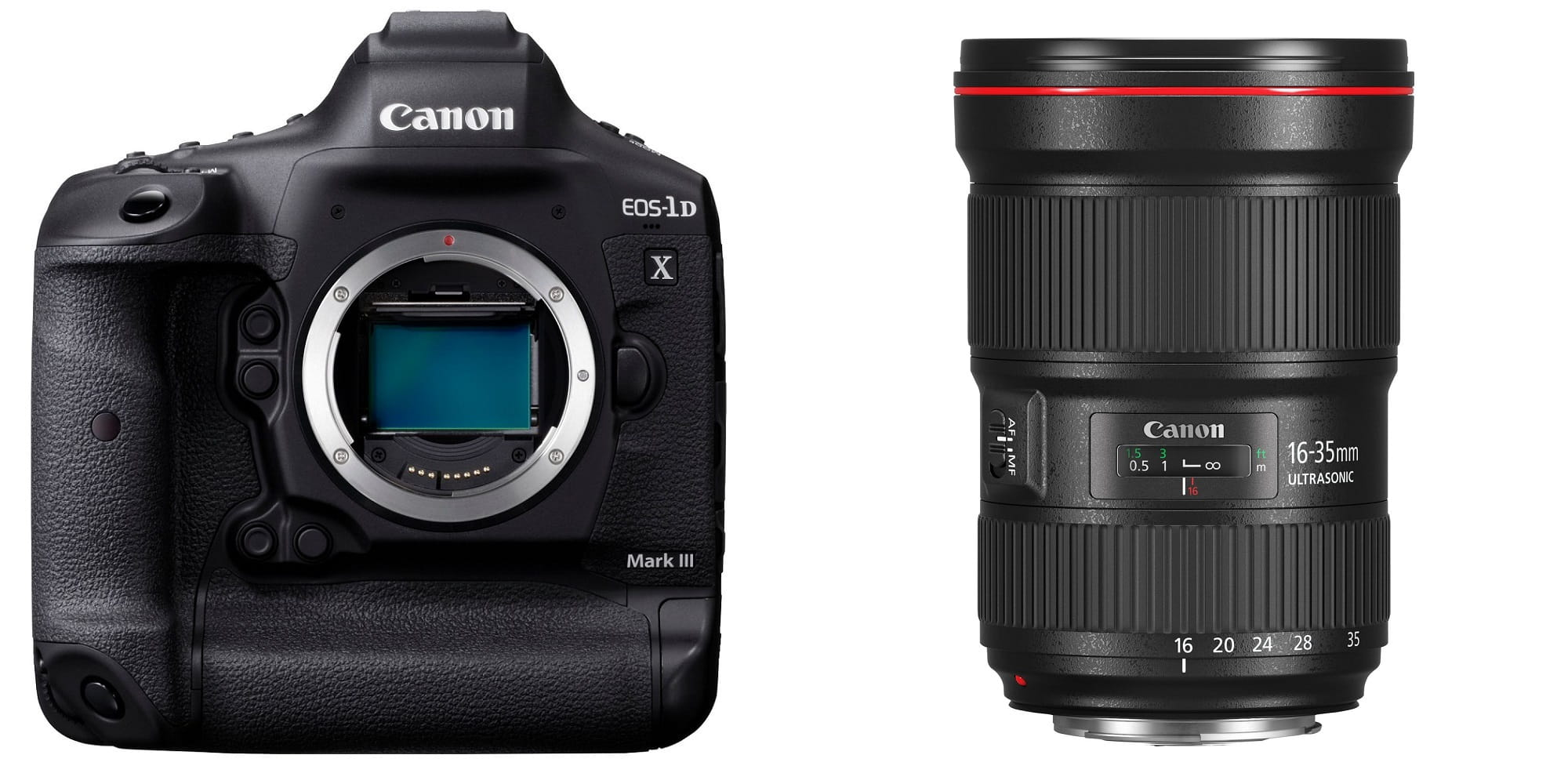 Canon EOS 1DX Mark III + EF 16-35mm f/2.8L III USM + karta + czytnik