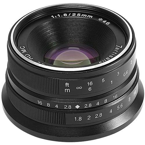 Obiektyw 7Artisans 25mm F1.8 Canon M czarny