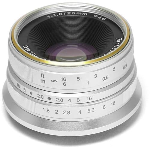 Obiektyw 7Artisans 25mm F1.8 Sony E srebrny