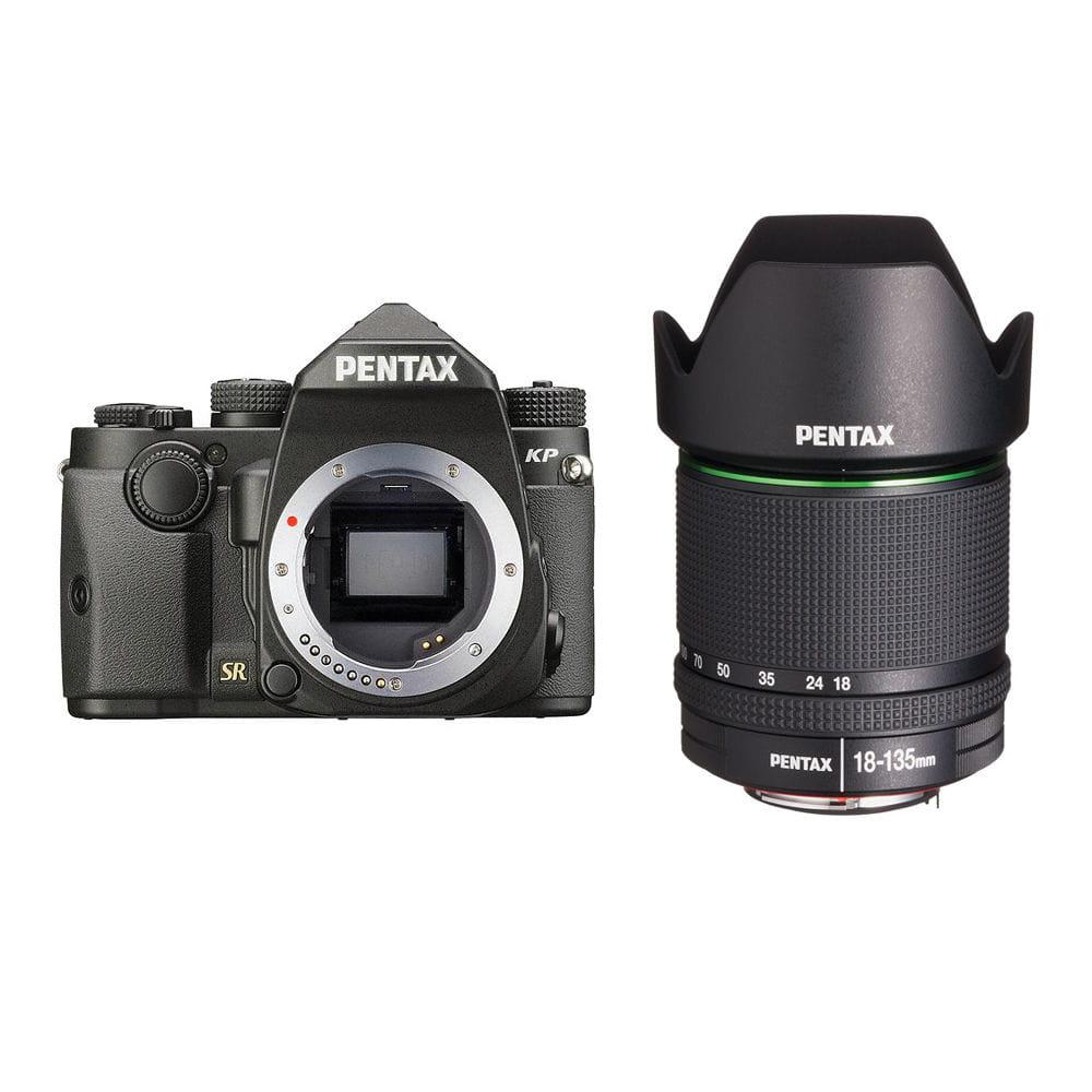 Zestaw lustrzanka Pentax KP czarny + obiektyw Pentax DA 18-135mm F3.5-5.6ED AL DC WR + obiektyw 50 mm f/1.8 DA SMC za 1 zł