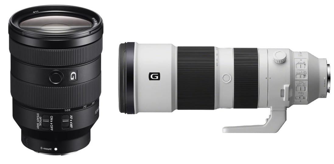 Obiektywy Sony FE 24-105 f/4.0 G OSS - SEL24105G + FE 200-600 mm F5.6-6.3 G OSS - SEL200600G