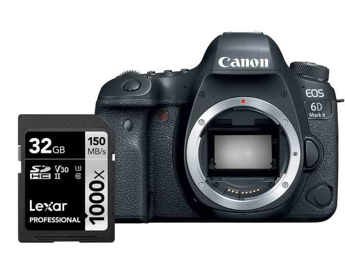 Lustrzanka Canon EOS 6D mark II - body + karta Lexar + Cashback Canon Lens Promo z wybranym obiektywem Canon!