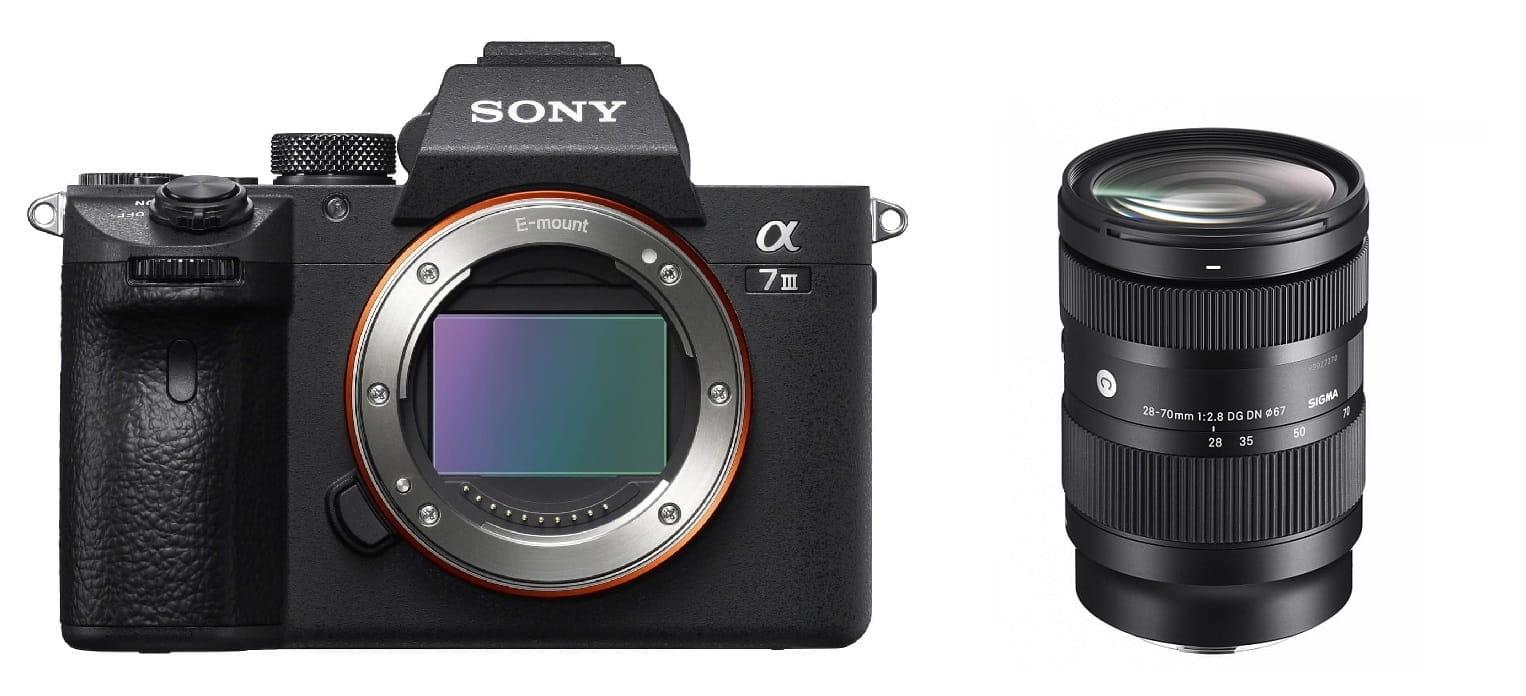Aparat cyfrowy Sony A7 III ILCE7M3B + Sigma C 28-70mm F2.8 DG DN + cashback 900 zł