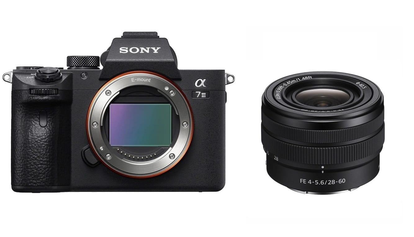 Aparat cyfrowy Sony A7 III - ILCE7M3B + obiektyw Sony FE 28-60mm F4-5.6 SEL2860 + cashback 900 zł