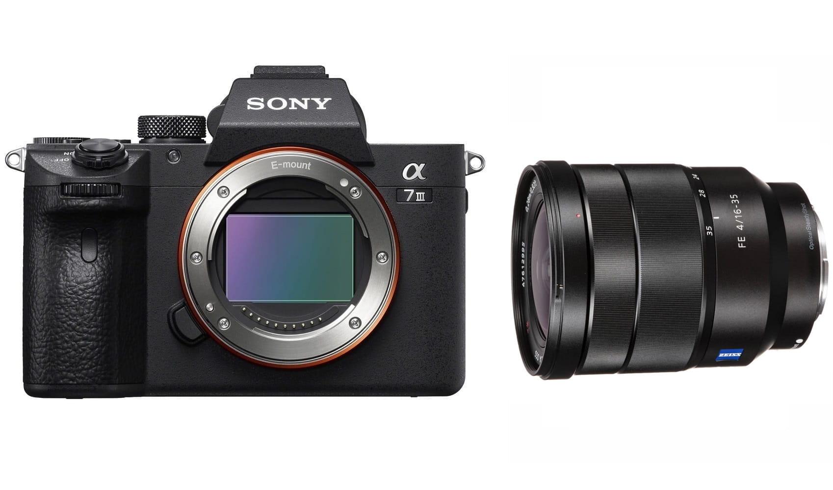 Aparat cyfrowy Sony A7 III - ILCE7M3B + obiektyw FE 16-35 mm f/4.0 Zeiss Vario-Tessar ZA OSS - SEL1635Z + cashback 2x900 zł