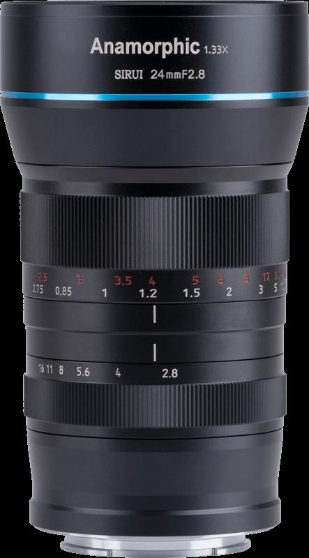 Obiektyw Sirui Anamorphic Lens 1,33x 24mm f/2.8 MFT