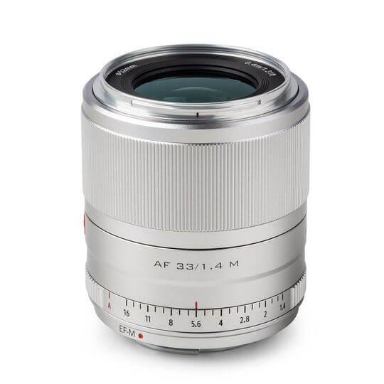 Obiektyw Viltrox AF 33 mm f/1.4 Fuji XF - Srebrny