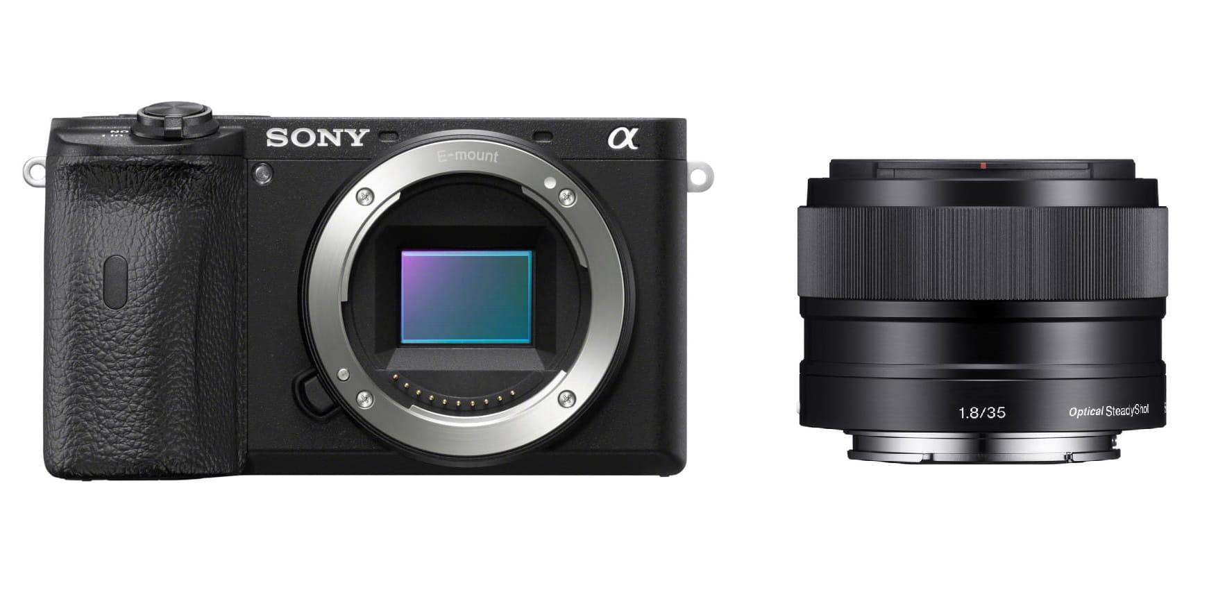 Aparat cyfrowy Sony A6600 + obiektyw 35 mm f/1.8 OSS - SEL35F18