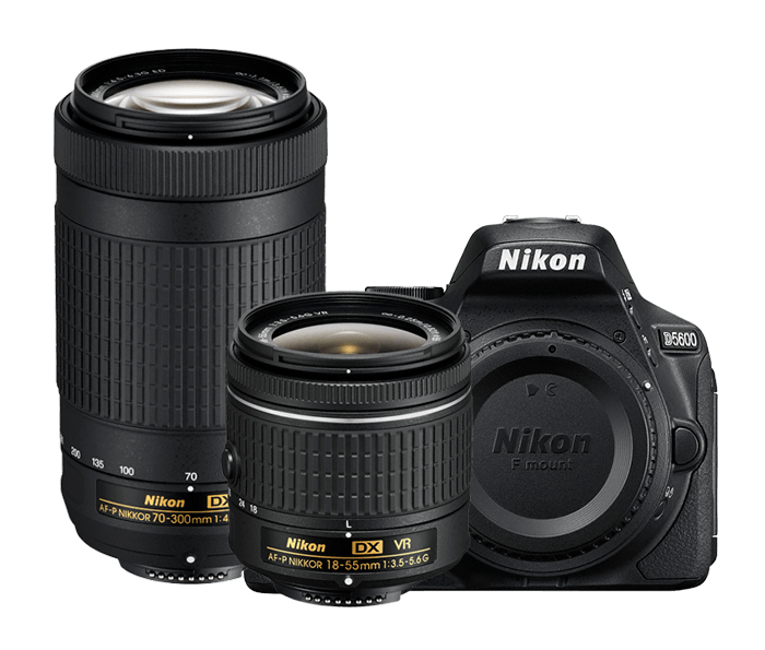Lustrzanka Nikon D5600 + Nikkor 18-55 AF-P VR + 70-300 VR | ( w magazynie)